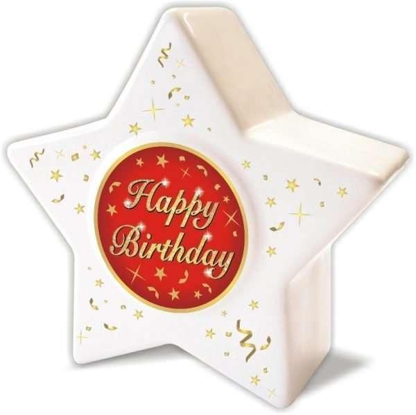 Spardose: Stern zum Geburtstag, Happy Birthday