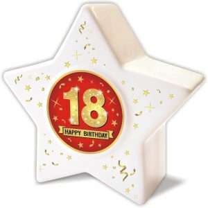 Spardose: Stern zum 18 Geburtstag, Happy Birthday