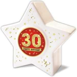 Spardose: Stern zum 30 Geburtstag, Happy Birthday