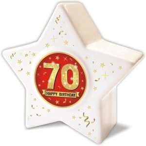 Spardose: Stern zum 70 Geburtstag, Happy Birthday