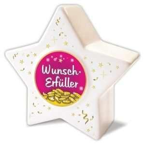 Spardose Sparbüchse Sparschwein Stern kleiner Wunscherfüller