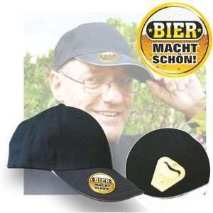 Basecap Bier macht schön Papa Männertag Vatertag Vatertagsgeschenke Herrentag Männerparty Wandern Bier trinken Flaschenöffner Prost andrea-geschenke.de