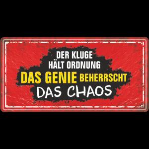 Das Genie beherrscht das Chaos Metallschild 33538 AV Andrea Verlag andrea-geschenke.de!