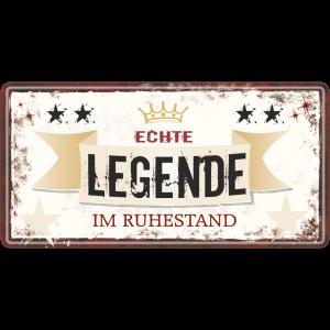 Echte Legende Rentner Metallschild 33542 AV Andrea Verlag andrea-geschenke.de!