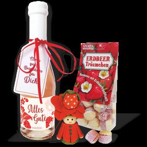 Erdbeersecco-Erdbeergeschenk-Muttertag-Mutti-Oma-Lieblingsmensch-Freundin-Dekoration-Home-andrea-geschenke.de