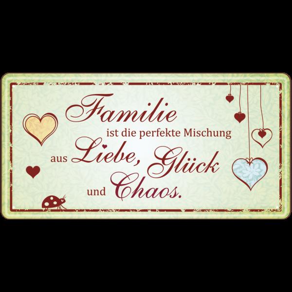 Familie ist die perfekte Mischung Metallschild 33549 AV Andrea Verlag andrea-geschenke.de!