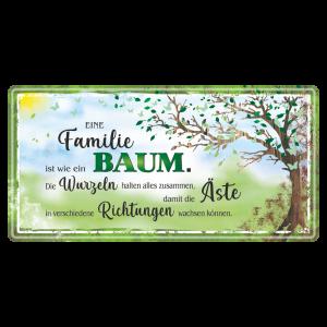 Familie-ist-wie-ein-Baum-Metallschild-Blechschild-Schild-Tuerschild-Geschenkidee-AV-Andrea-Verlag-andrea-geschenke.de