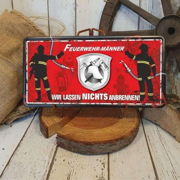 Feuerwehr-Feuerwehrmaenner-Metallschild-Blechschild-Kameraden-AV-Andrea-Verlag-andrea-geschenke.de
