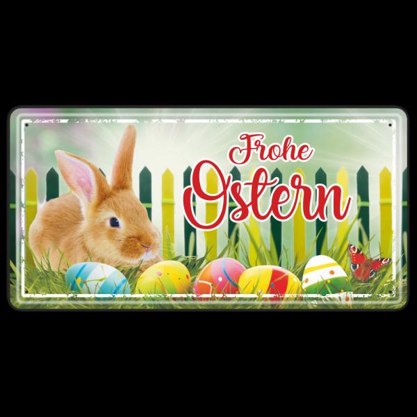 Frohe-Ostern-Hase-Bunte-Eier-Metallschild-Blechschild-Schild-Tuerschild-zu-Ostern-Geschenkidee-AV-Andrea-Verlag-andrea-geschenke.de