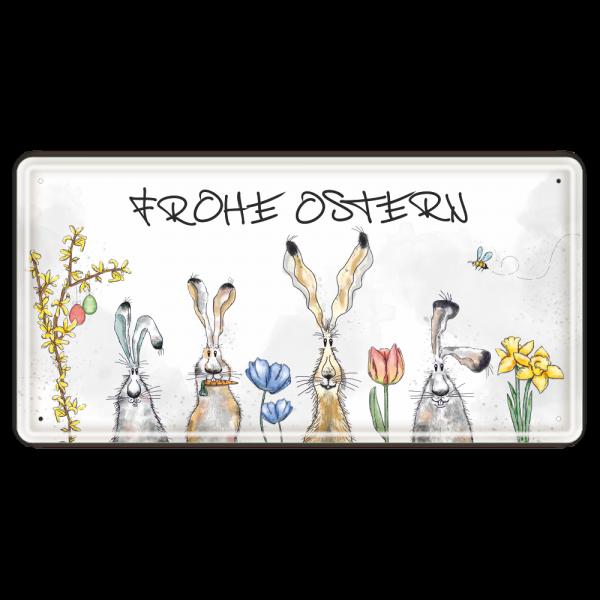 Frohe-Ostern-Langohr-Metallschild-Blechschild-Schild-Tuerschild-zu-Ostern-Geschenkidee-AV-Andrea-Verlag-andrea-geschenke.de