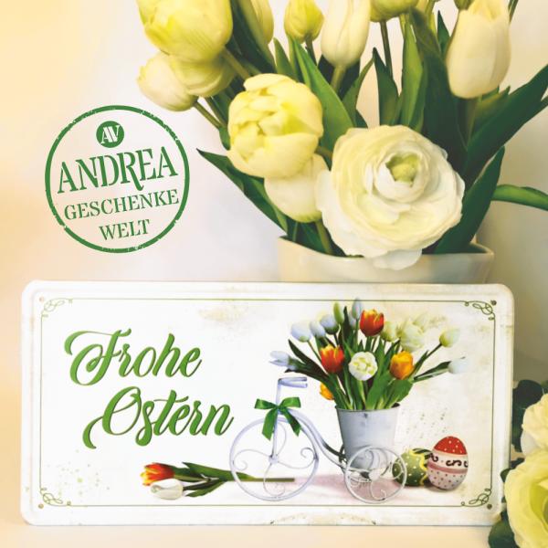 Frohe-Ostern-Tulpen-Metallschild-Blechschild-Schild-Tuerschild-zu-Ostern-Geschenkidee-2-AV-Andrea-Verlag-andrea-geschenke.de