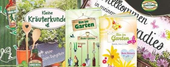 Garten Geschenke für Gärtner Gärtnerin Bester Gartenparty Deko AV Andrea Verlag andrea-geshenke.de