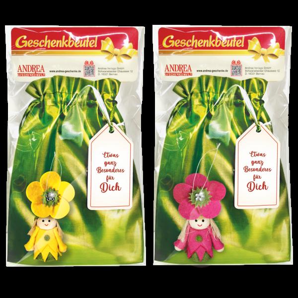 Geschenkbeutel-mit-Blumenmaedchen-Zweier-Set-gelb-pink-zum-Selbstbefuellen-Geschenkverpackung-fuer-Frauen-fuer-Gaertner-und-Gaertnerinnen-zum-Geburtstag-zu-Ostern-AV-Andrea-Verlag-andrea-verlag.de