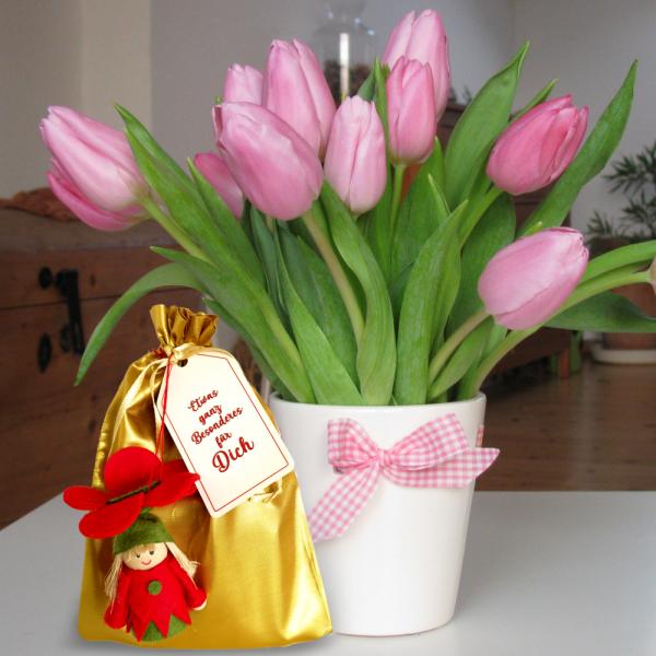 Geschenkbeutel-mit-Blumenmaedchen-Zweier-Set-rot-gruen-zum-Selbstbefuellen-Geschenkverpackung-fuer-Frauen-zum-Geburtstag-zu-Ostern-Aktion-AV-Andrea-Verlag-andrea-verlag.de