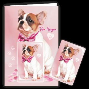Geschenkkarte-Magnet-Glueckwunschkarte-Magnetkarte-Hund-von-Herzen-AV-Andrea-Verlag-andrea-geschenke.de