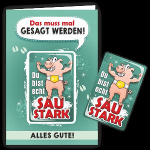 Geschenkkarte-Magnet-Glueckwunschkarte-Magnetkarte-Saustark-AV-Andrea-Verlag-andrea-geschenke.de