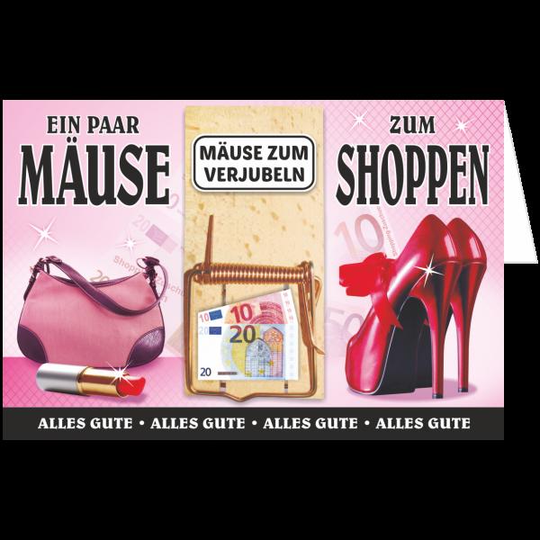 Geschenkkarte-Mausefalle-Glueckwunschkarte-Geldgeschenk-Shoppen-AV-Andrea-Verlag-andrea-geschenke.de