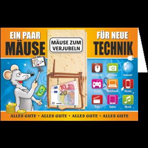 Geschenkkarte-Mausefalle-Glueckwunschkarte-Geldgeschenk-Technik-AV-Andrea-Verlag-andrea-geschenke.de