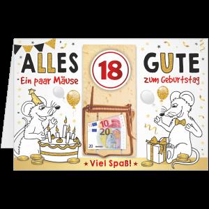 Geschenkkarte-Mausefalle-Glueckwunschkarte-Geldgeschenk-achtzehn-AV-Andrea-Verlag-andrea-geschenke.de