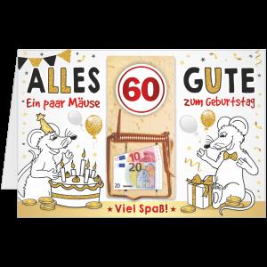 Geschenkkarte-Mausefalle-Glueckwunschkarte-Geldgeschenk-sechzig-AV-Andrea-Verlag-andrea-geschenke.de