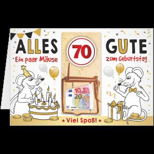 Geschenkkarte-Mausefalle-Glueckwunschkarte-Geldgeschenk-siebzig-AV-Andrea-Verlag-andrea-geschenke.de