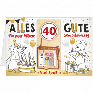Geschenkkarte-Mausefalle-Glueckwunschkarte-Geldgeschenk-vierzig-AV-Andrea-Verlag-andrea-geschenke.de