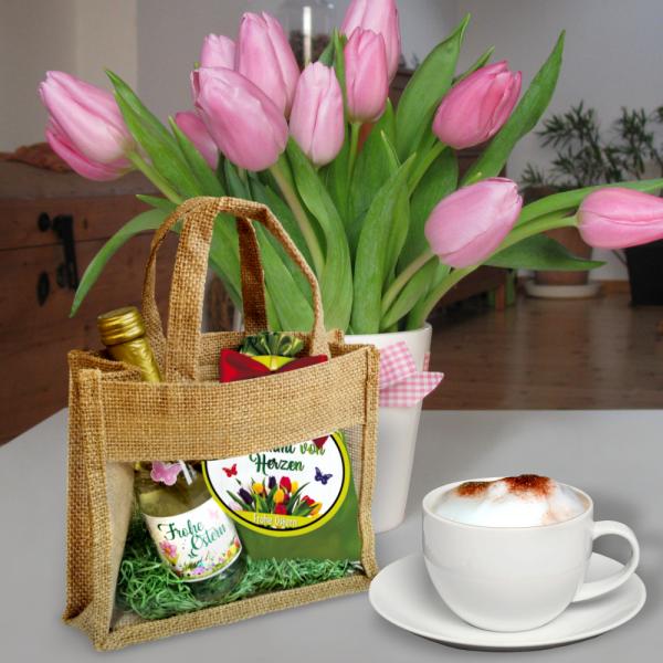 Geschenkset-Piccolo-Frohe-Ostern-mit-Kaffeetaftsaeckchen-in-Jutetasche-Ostergeschenkeset-zu-Ostern-Geschenkidee-in-Aktion-AV-Andrea-Verlag-andrea-geschenke.de
