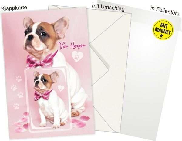 Glückwunschkarte mit Magnet und Umschlag