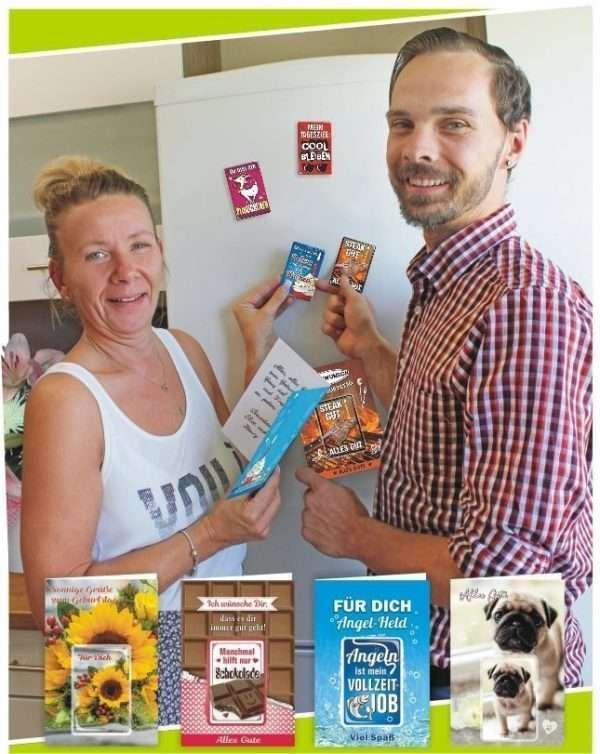 Glückwunschkarte mit Magnet und Umschlag Werbebild