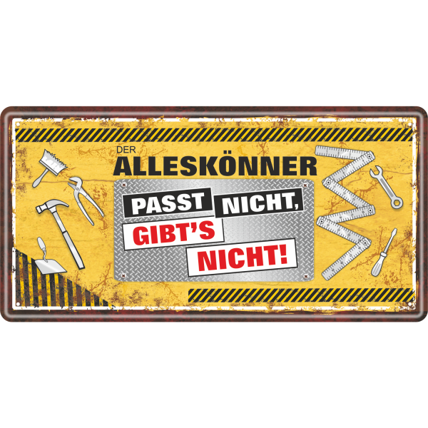 Handwerker-Alleskoenner-Heimwerker-Metallschild-Blechschild-Maennergeschenk-AV-Andrea-Verlag-andrea-geschenke.de