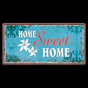 Home-sweet-Home-Metallschild-Blechschild-Schild-Tuerschild-Geschenkidee-AV-Andrea-Verlag-andrea-geschenke.de