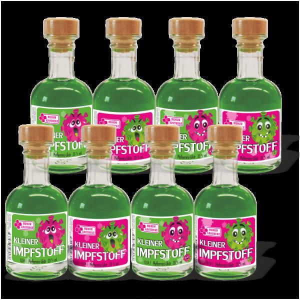 Impfstoff-MiniApotheker-8-Pfefferminzlikoere004l-Kleiner-Corona-Impfstoff-Corona-Pfefferminz-Likoer-4-Motive-andrea-geschenke.de-AV-Andrea-Verlag-MB-Likoere-Humor-Apotheke