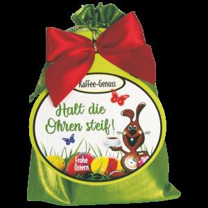 Kaffee-Satinsaeckchen-Halt-die-Ohren-steif-Frohe-Ostern-mit-Kaffee-Melange-Kaffeegeschenk-zum-Osterfest-AV-Andrea-Verlag-andrea-geschenke.de