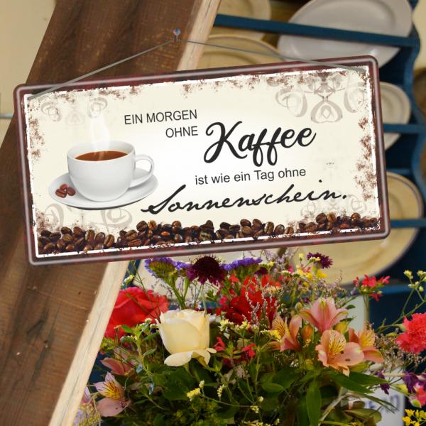 Kaffee-ist-wie-Sonnenschein-Metallschild-Blechschild-Schild-Kuechenschild-Geschenkidee-2-AV-Andrea-Verlag-andrea-geschenke.de