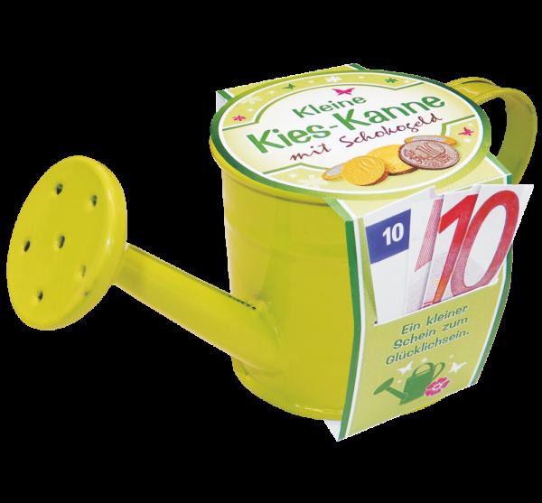 Kieskanne-Geldgeschenk-Garten-Gaertner-Gaertnerin-Geldkanne-Schokogeld-gruen-AV-Andrea-Verlag-andrea-geschenke.de