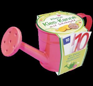 Kieskanne-Geldgeschenk-Garten-Gaertner-Gaertnerin-Geldkanne-Schokogeld-pink-AV-Andrea-Verlag-andrea-geschenke.de