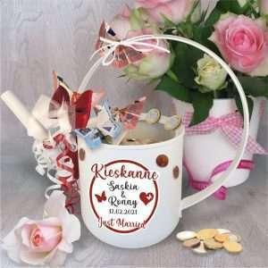 Kieskanne-Hochzeit-Giesskanne-Geldgeschenk-Geschenk-zur-Hochzeit-Just-married-personalisiert-andrea-geschenke.de