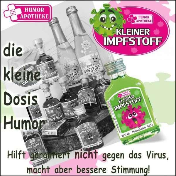 Kleiner Impfstoff Corona andrea-geschenke.de AV Andrea Verlag MB Liköre Humor Apotheke