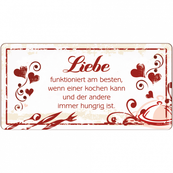 Liebe funktioniert am besten Metallschild 33550 AV Andrea Verlag andrea-geschenke.de!