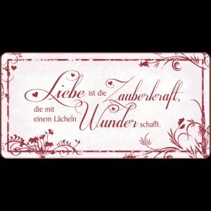 Liebe ist die Zauberkraft Metallschild 33545 AV Andrea Verlag andrea-geschenke.de!
