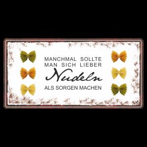 Manchmal-Nudeln-machen-Metallschild-Blechschild-Schild-Kuechenschild-Geschenkidee-AV-Andrea-Verlag-andrea-geschenke.de
