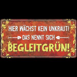 Metallschild-Blechschild-Begleitgruen-Garten-Gartenschild-Hinweisschild-Gaertner-AV-Andrea-Verlag-andrea-geschenke.de