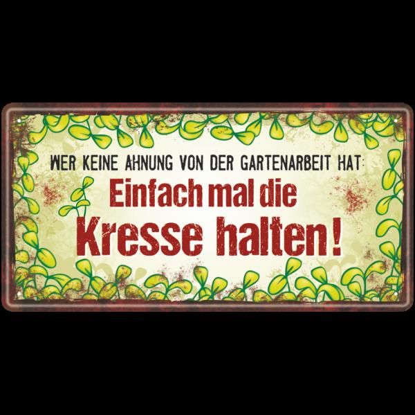 Metallschild-Blechschild-Gartenkraeuter-Garten-Gartenschild-Hinweisschild-Gaertner-AV-Andrea-Verlag-andrea-geschenke.de