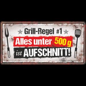 Metallschild-Blechschild-Grillregel-Grillschild-Garten-Maennerschild-Grillen-BBQschild-Hinweisschild-AV-Andrea-Verlag-andrea-geschenke.de