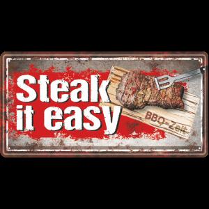 Metallschild-Blechschild-Grillschild-Steak-Maennerschild-Grillen-BBQschild-Hinweisschild-AV-Andrea-Verlag-andrea-geschenke.de