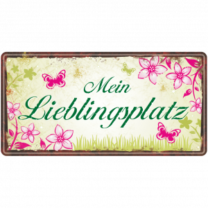 Metallschild-Blechschild-Lieblingsplatz-Garten-Gartenschild-Hinweisschild-Gaertner-AV-Andrea-Verlag-andrea-geschenke.de