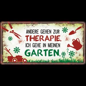 Metallschild-Blechschild-Therapie-Garten-Gartenschild-Hinweisschild-Gaertner-AV-Andrea-Verlag-andrea-geschenke.de