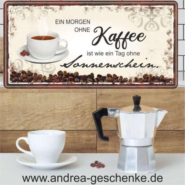 Metallschild-Kueche-Kochen-Blechschild-Spruch-Kaffee-Morgenmuffel-Montag-Kaffeeliebe-Schild-AV-Andrea-Verlag-andrea-geschenke.de