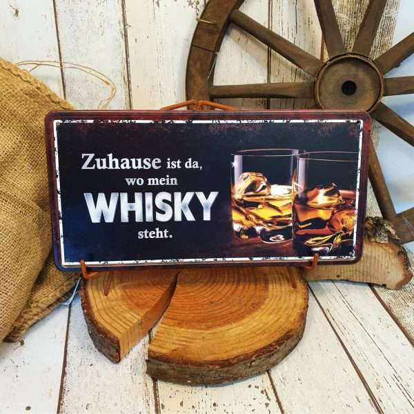 Metallschild-Whisky-Maennerschild-Blechschild-Whiskygeschenk-Maennergeschenk-Schild-Lieblingsgetraenk-AV-Andrea-Verlag-andrea-geschenke.de