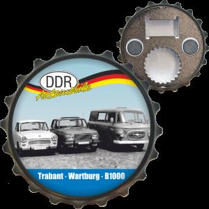 Ostalgie Flaschenöffner Öffner mit Spruch - Trabant Wartburg B1000 - der DDR Bieröffner Kapselöffner Kapselheber AV Andrea Verlag andrea-geschenke.de